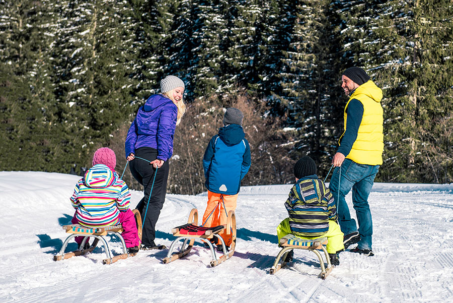 Tobogganing fun for all ages
