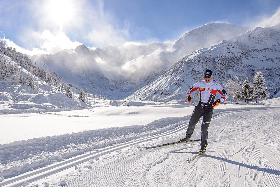 Sporty activity – cross-country skiing in Sportgastein